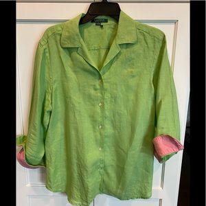 Ralph Lauren linen button-down 3/4 Shirt